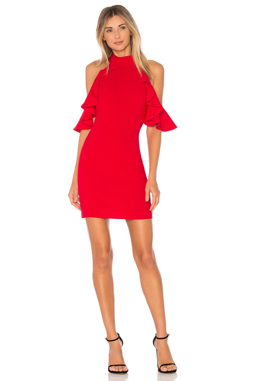 Amanda Uprichard Haven Dress in Scarlet