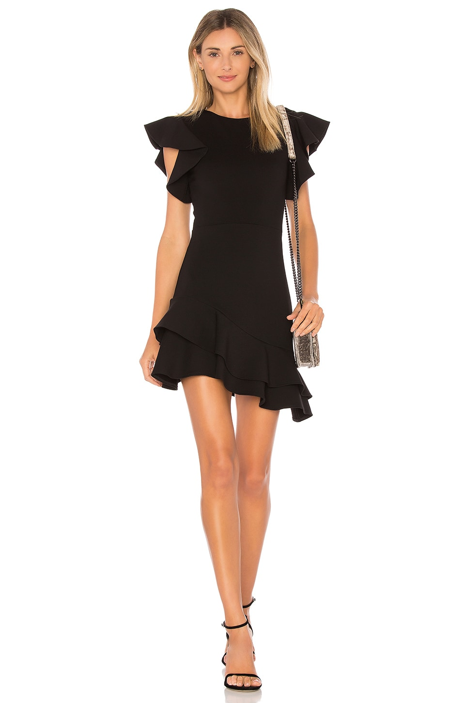 Amanda Uprichard Eclipse Dress in Black Powerstretch