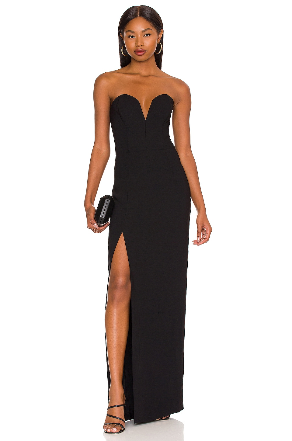 Amanda Uprichard Cherri Gown in Black