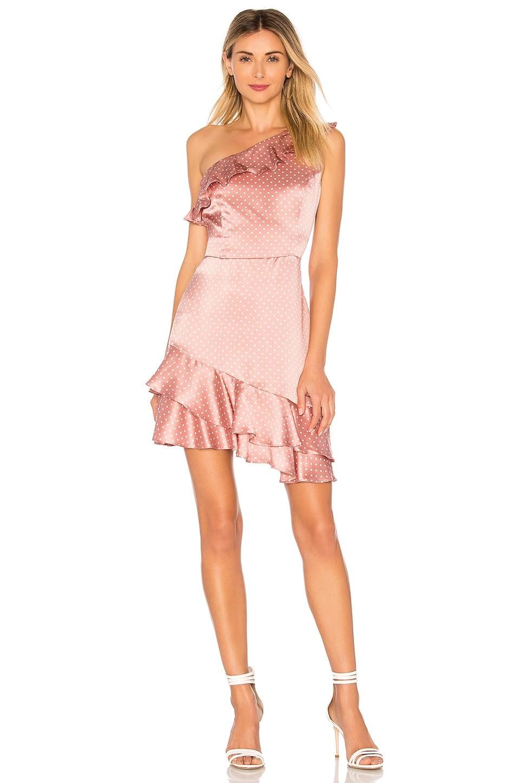 Amanda Uprichard X Revolve Sorbetto Dress In Mauve   Ivory Polka Dot ... ab045121d