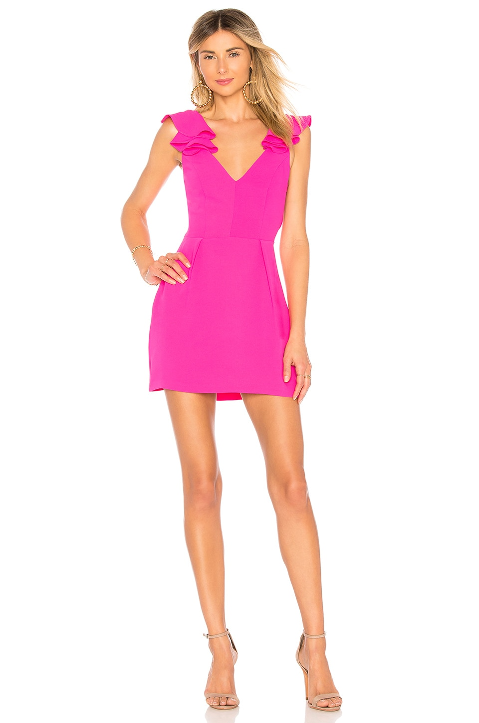 Amanda Uprichard Gimlet Dress in Hot Pink