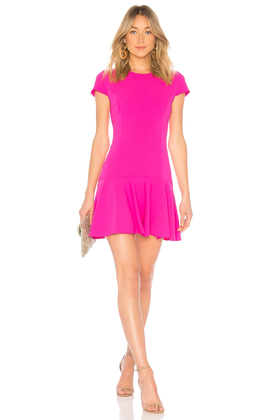 Amanda Uprichard Hudson Dress in Hot Pink
