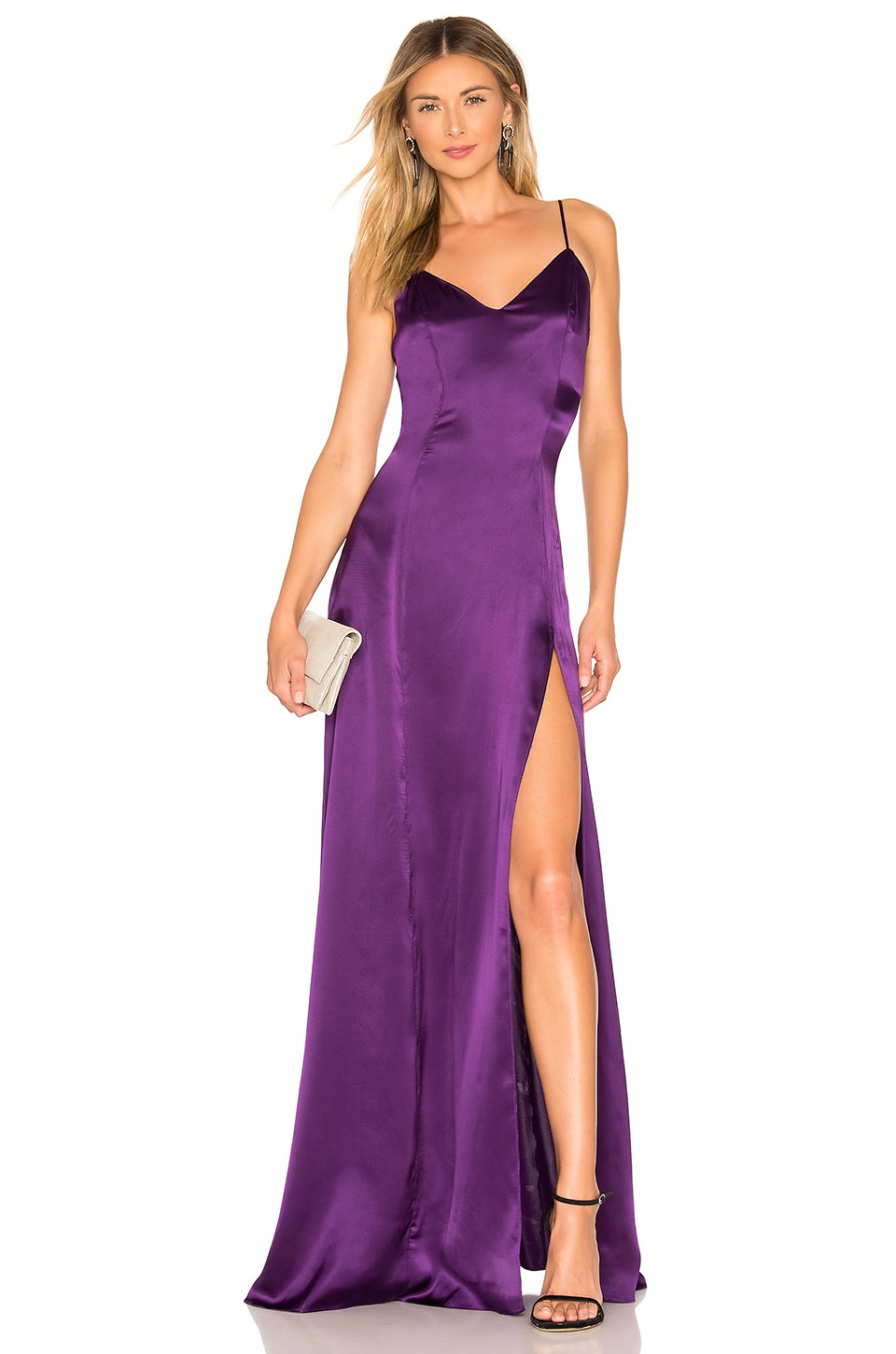 Amanda Uprichard Channing Gown in Purple