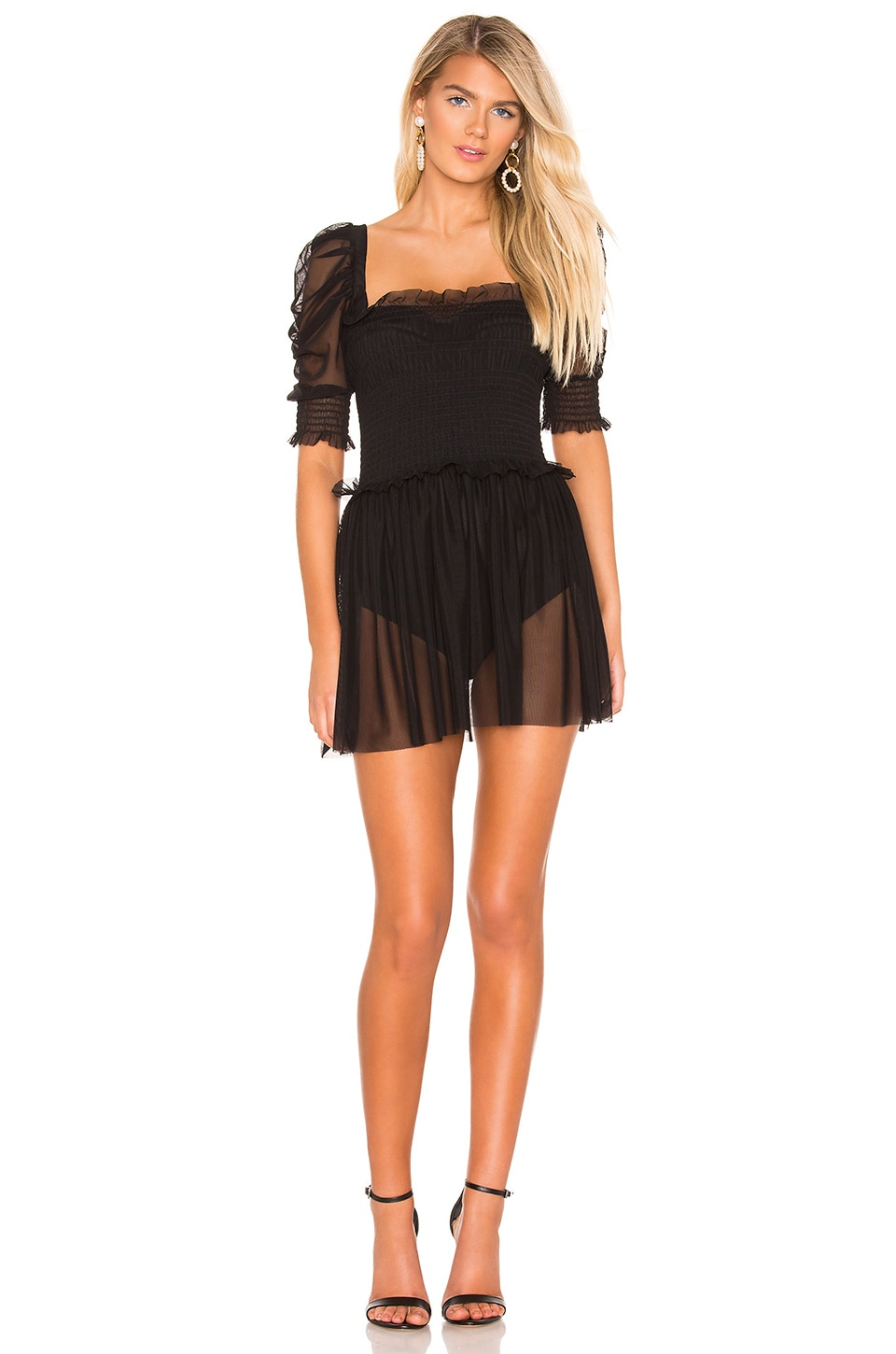 Amanda Uprichard Hurrah Dress in Black
