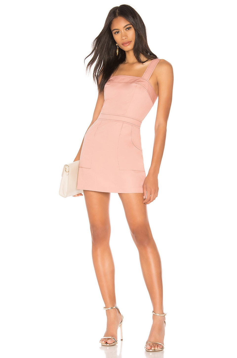 Amanda Uprichard Ace Dress in Dusty Rose