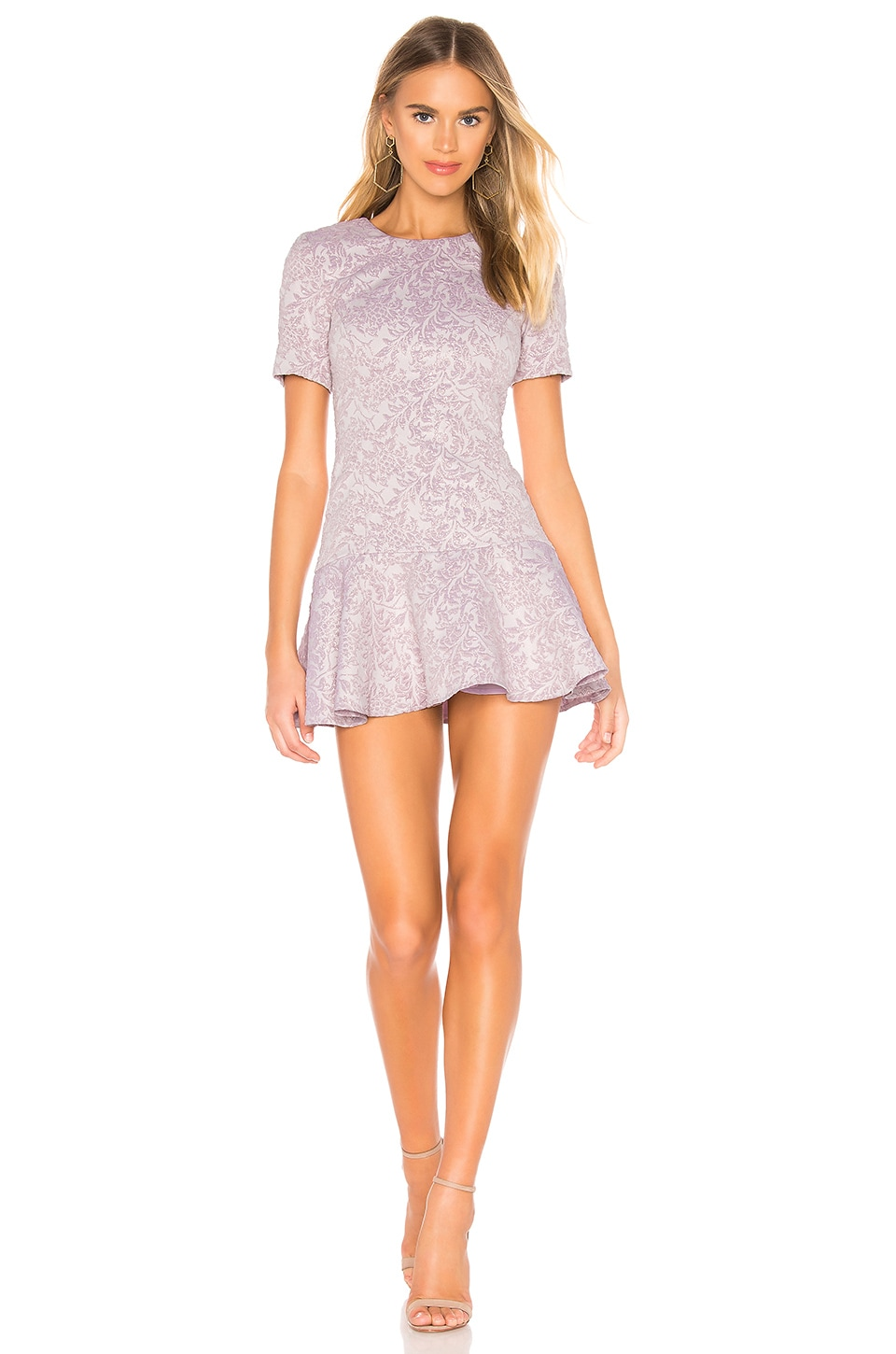 Amanda Uprichard Edina Dress in Lavender Jacquard