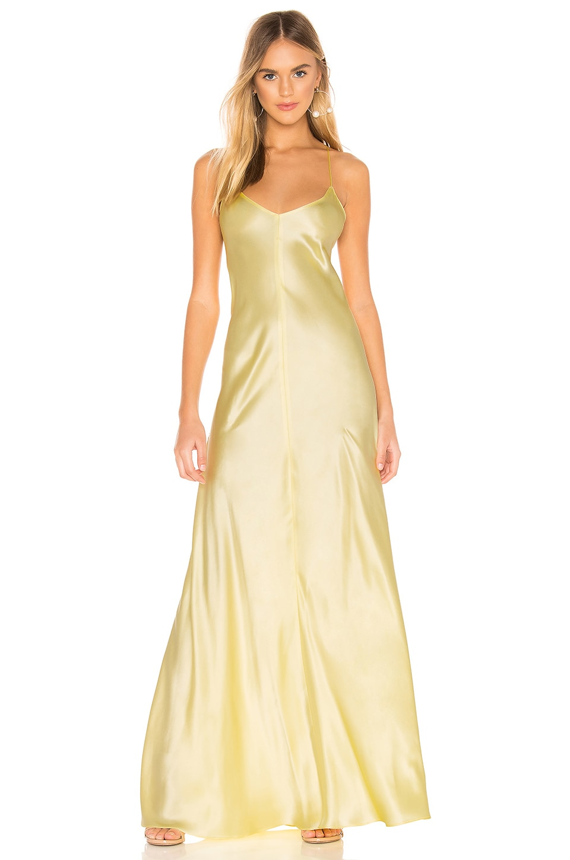 Amanda Uprichard x Back Dress in Butter Yellow