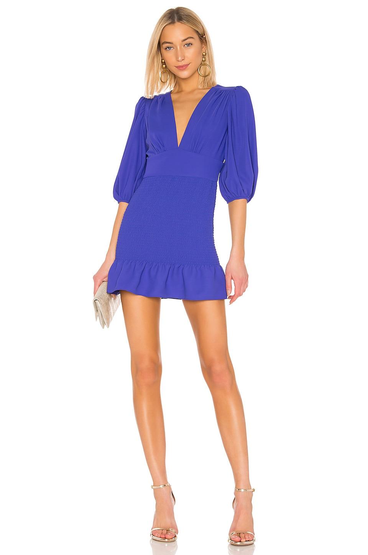 Amanda Uprichard Gala Mini Dress in Nu Blue
