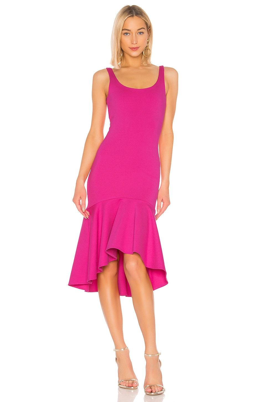 Amanda Uprichard Parker Dress in Hot Pink
