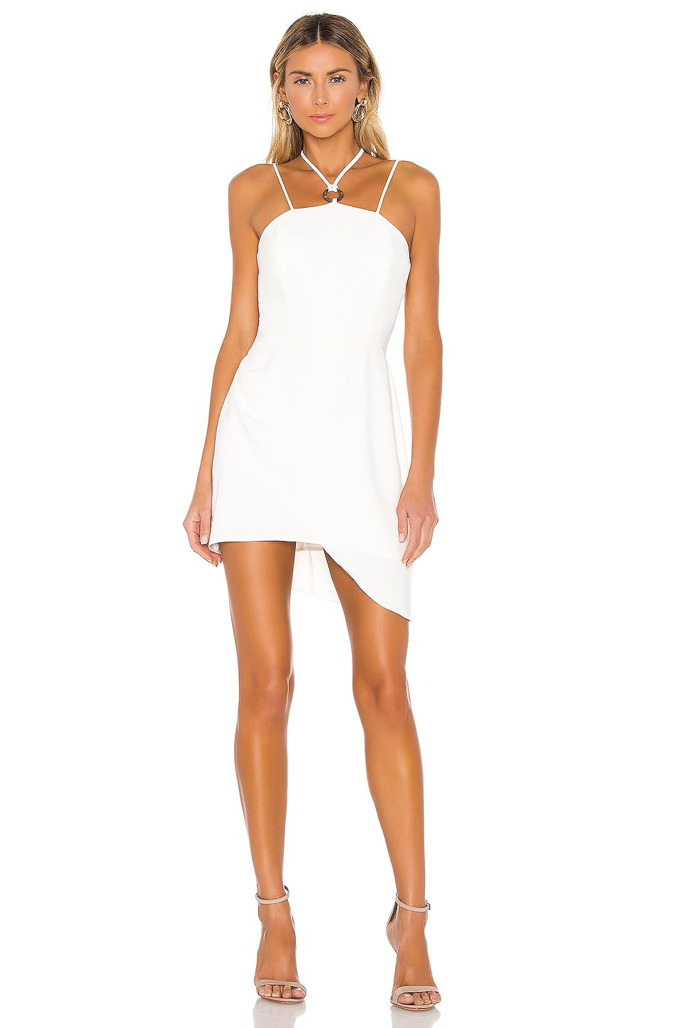 Amanda Uprichard Rimini Cut Out Dress in Ivory