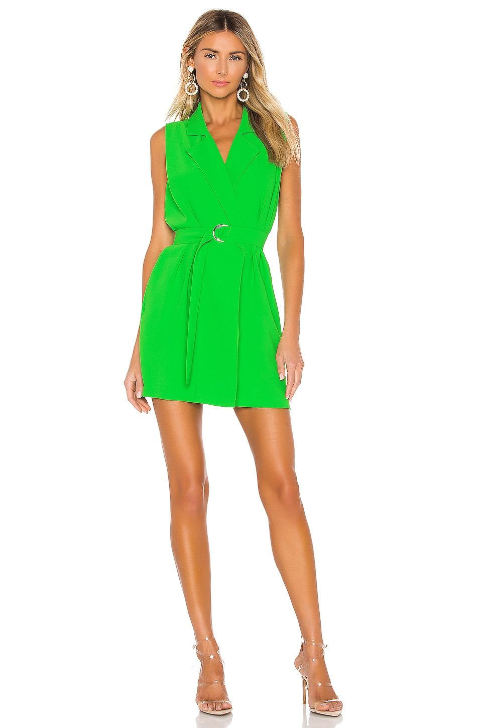 Amanda Uprichard Wintour Wrap Dress in Grass