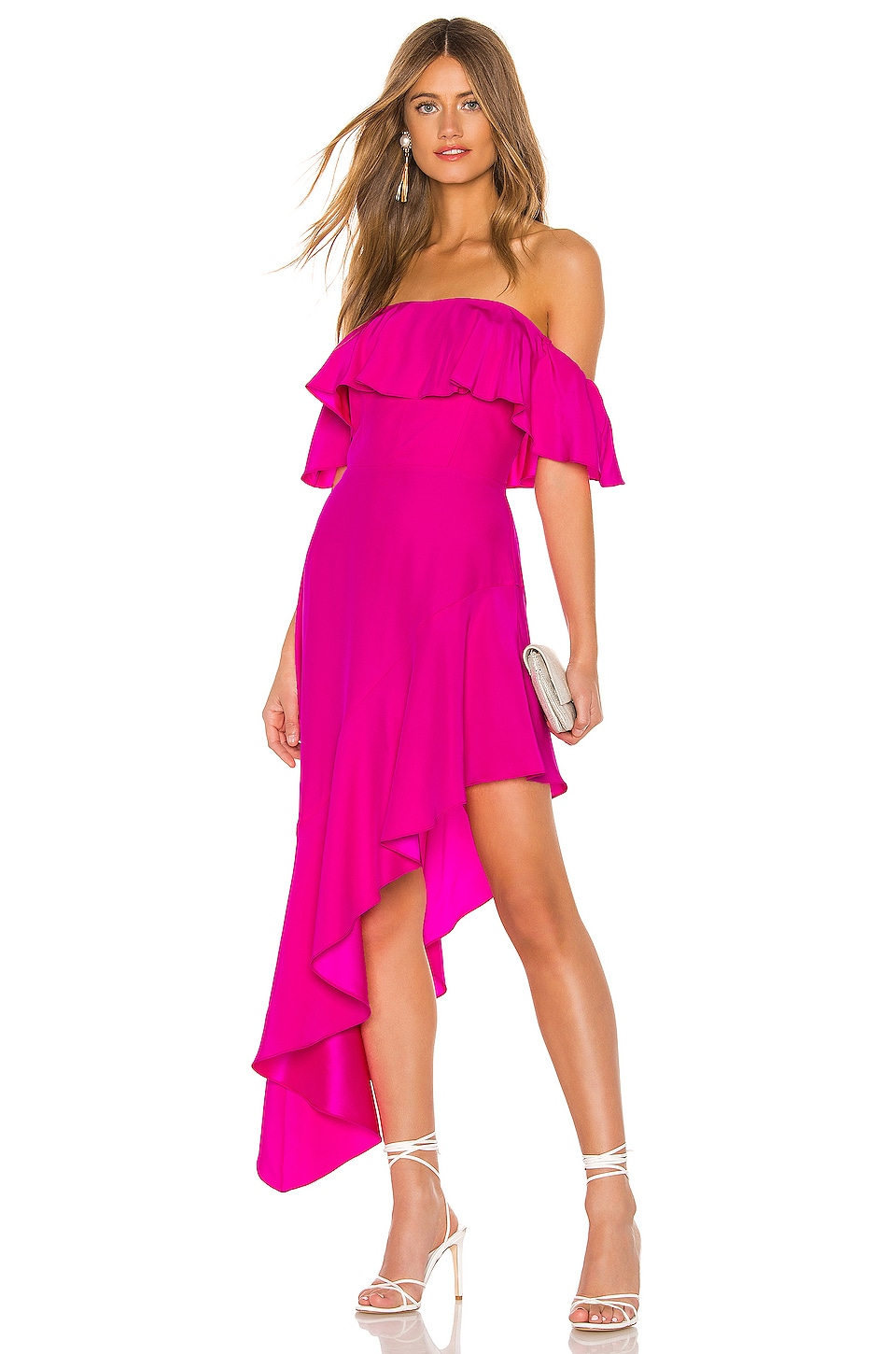 Amanda Uprichard Camellia Dress in Hot Pink Light