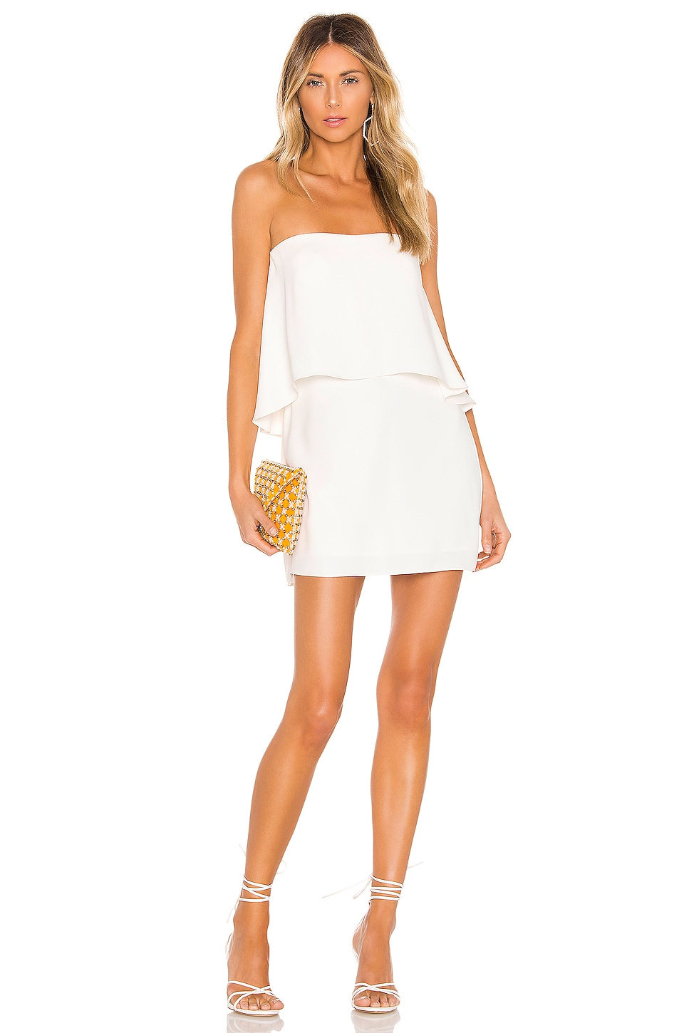 Amanda Uprichard Topanga Mini Dress in Ivory