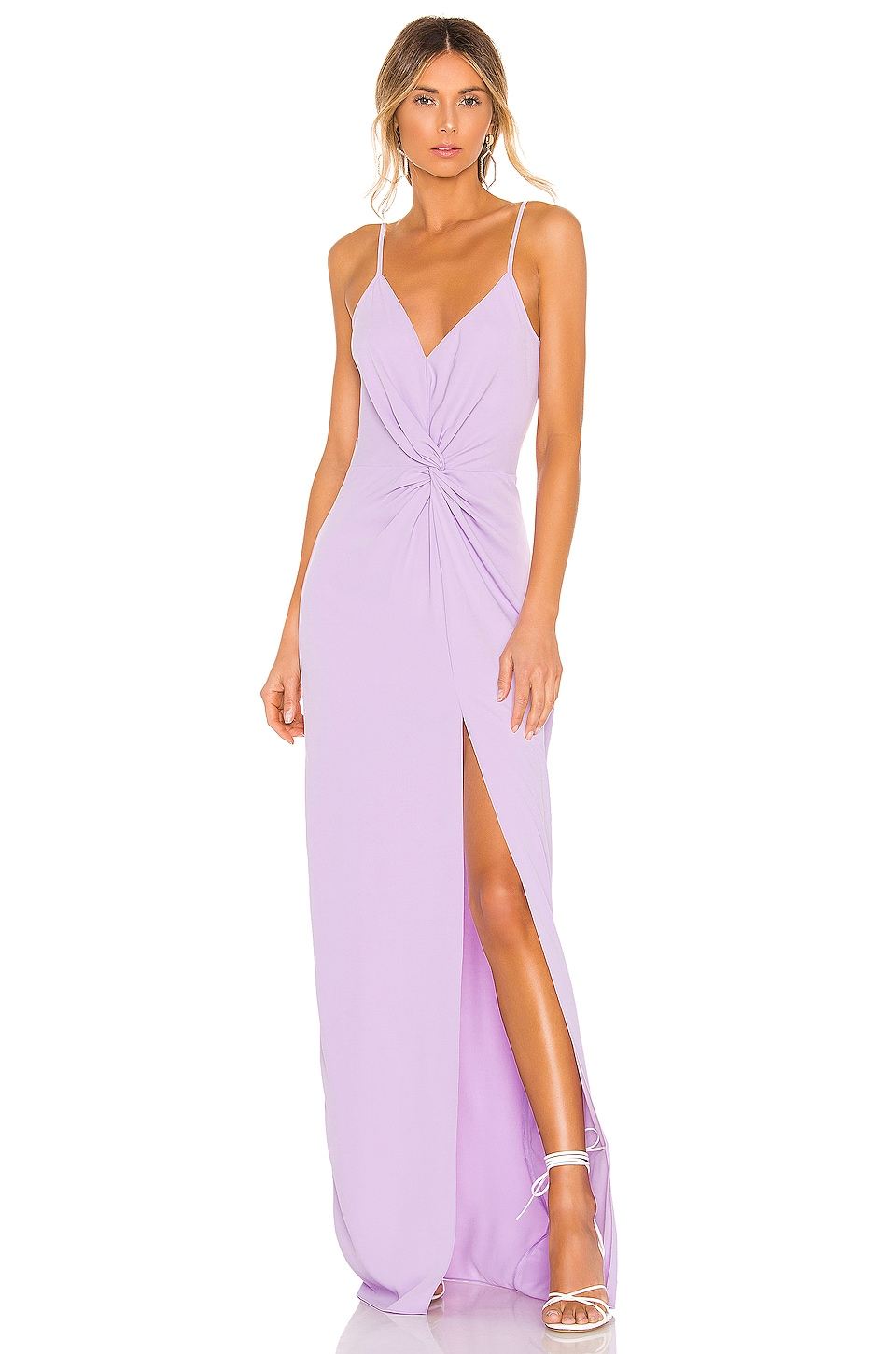 Amanda Uprichard Ellie Maxi Dress in Lavender