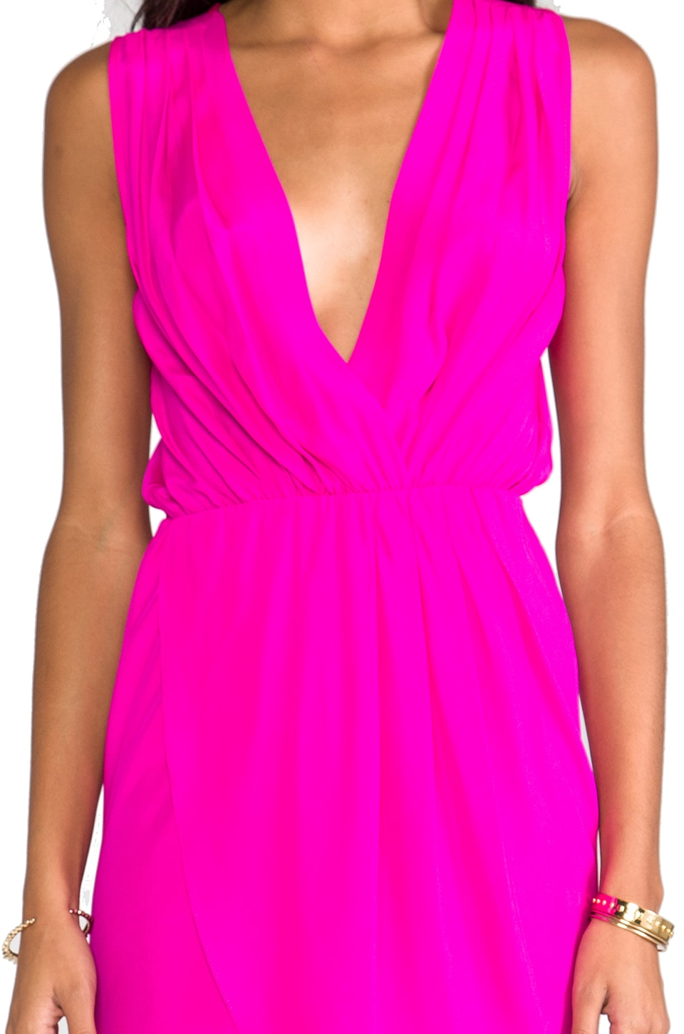 Amanda Uprichard Crystal Dress in Hot Pink