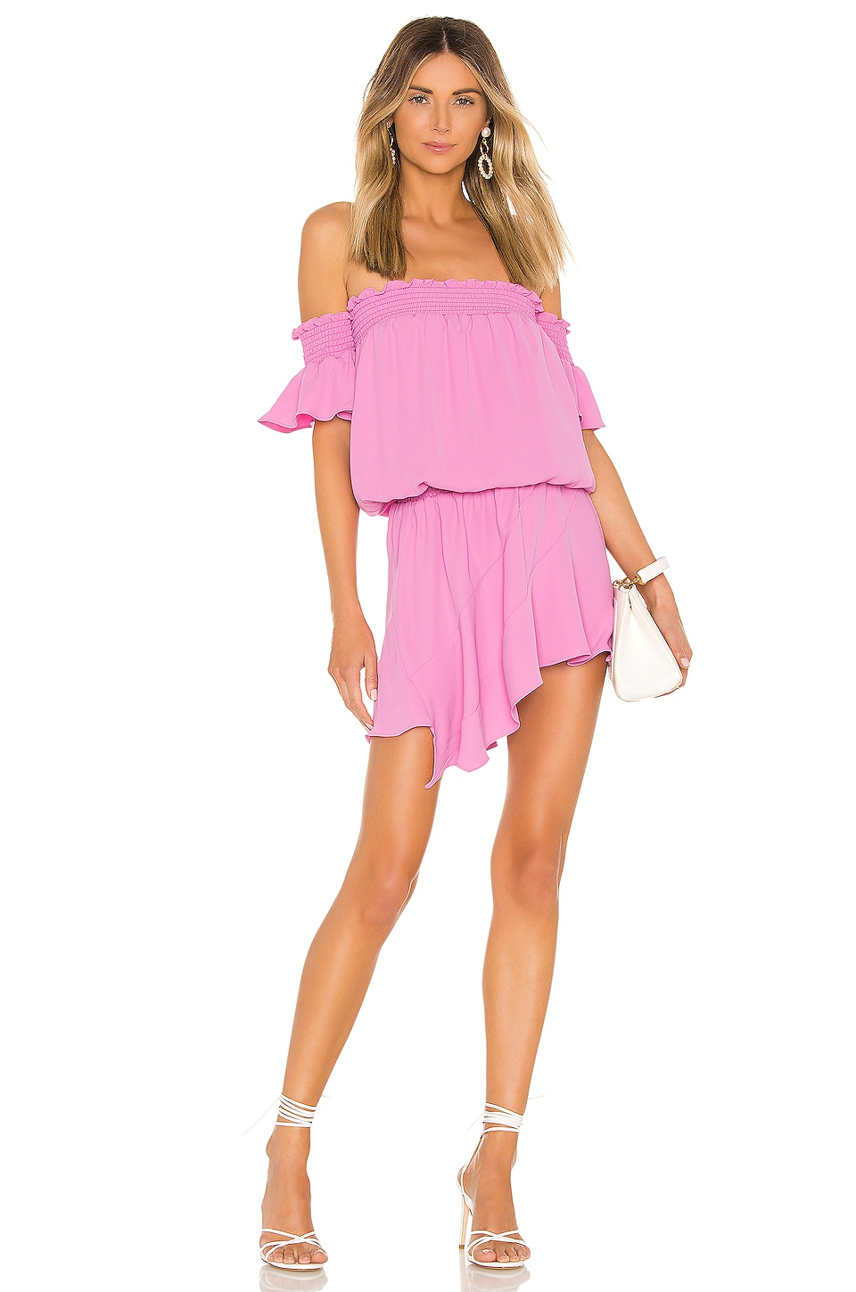 Amanda Uprichard Ariella Dress in Pompei Pink