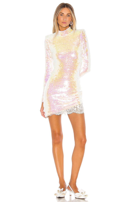 Amanda Uprichard x REVOLVE Devyn Sequin Mini Dress in Iridescent