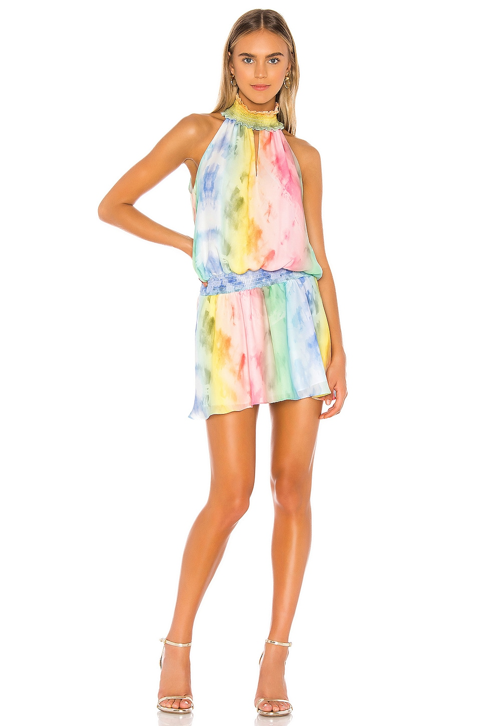 Amanda Uprichard X REVOLVE Kimmie Dress in Tie Dye