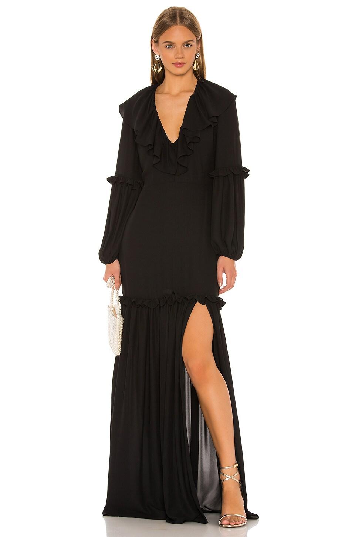 Amanda Uprichard Talulah Maxi in Black