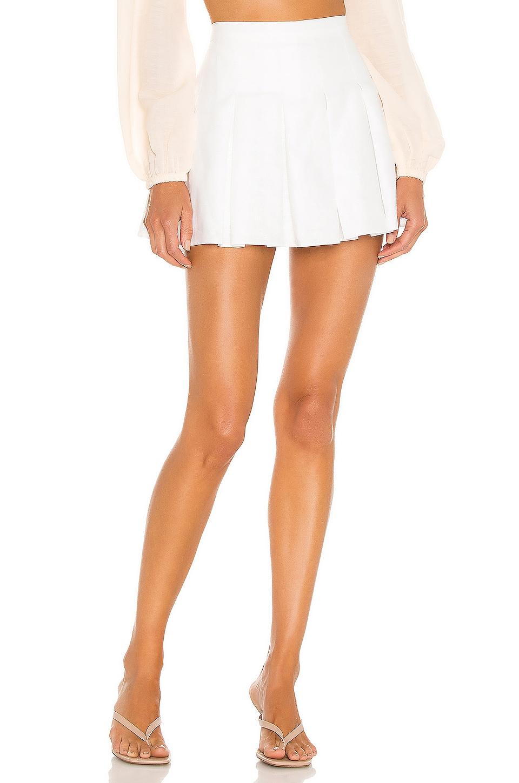 Amanda Uprichard X REVOLVE Linen Dixon Skort in White