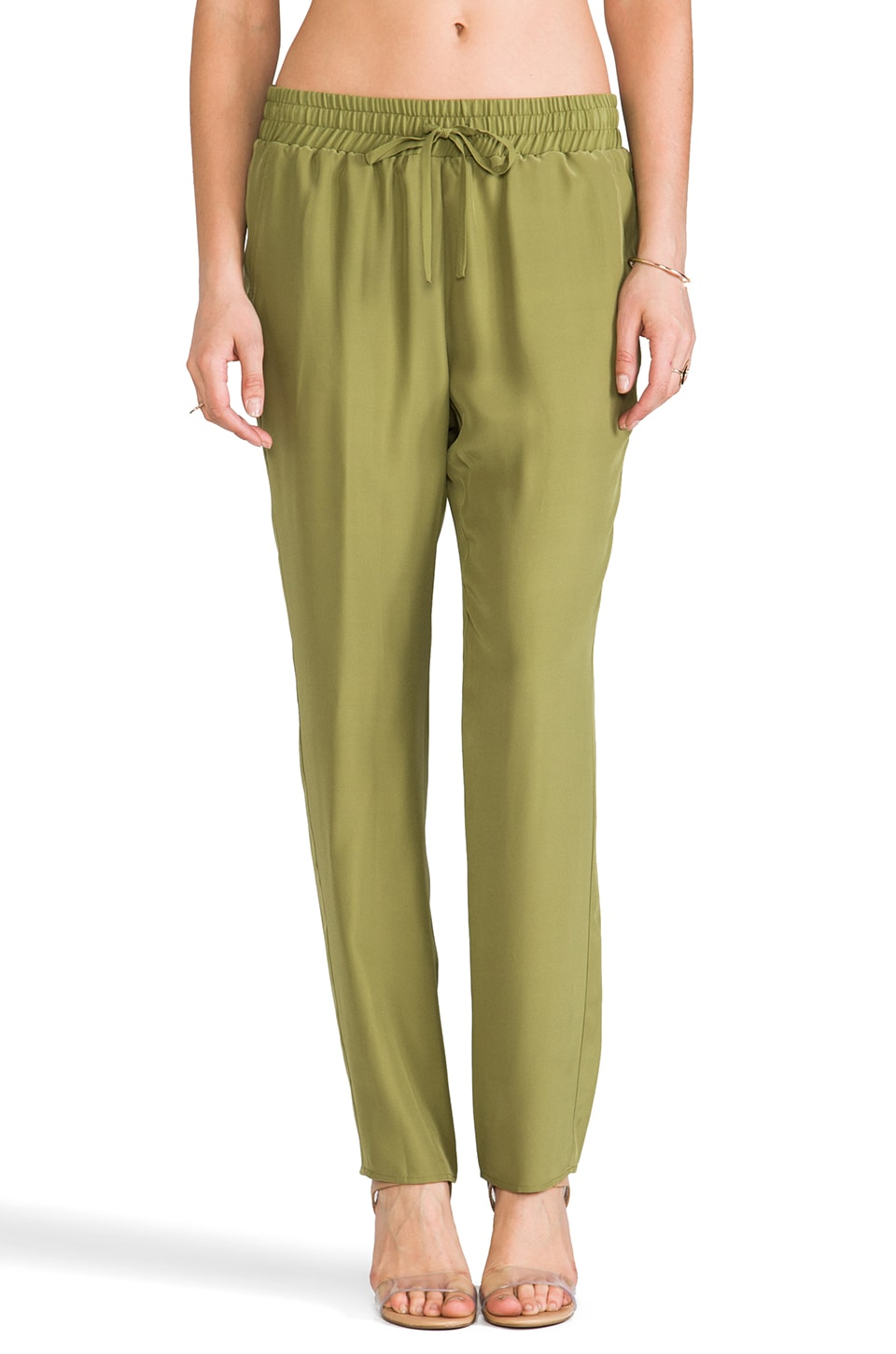 Amanda Uprichard Tribeca Pant in Olive