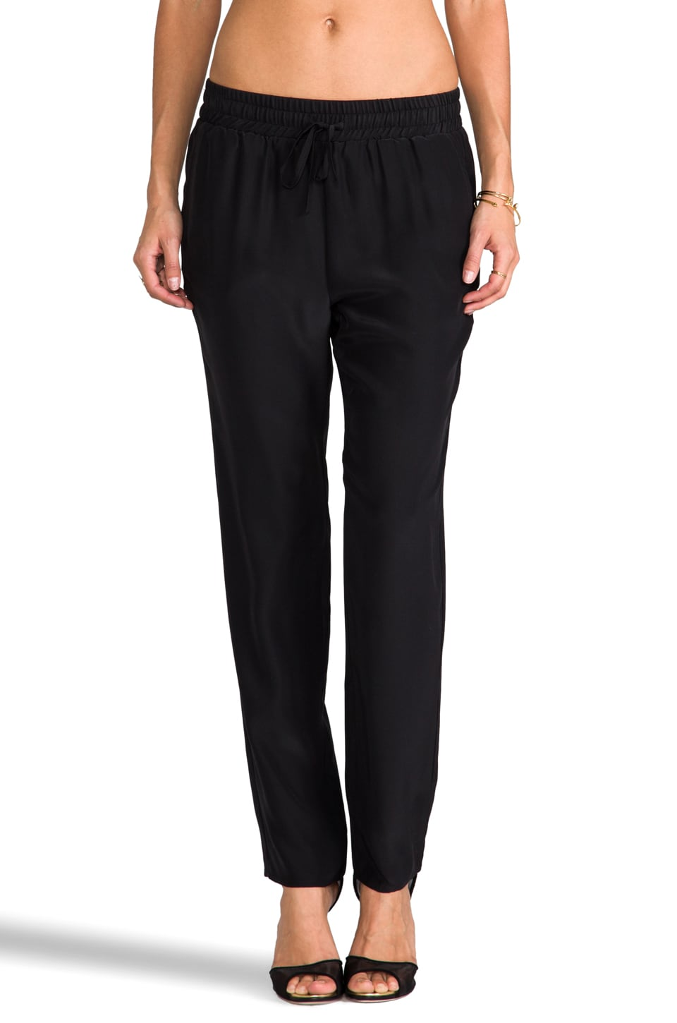 Amanda Uprichard Tribeca Pant in Black