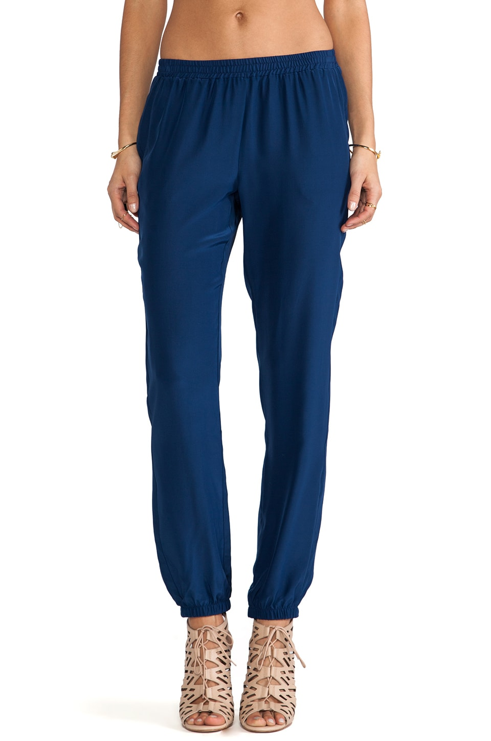 Amanda Uprichard Silk Track Pants in Emerson