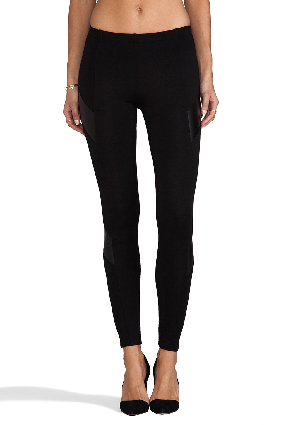 Amanda Uprichard Ponti/Vegan Leather Legging in Black