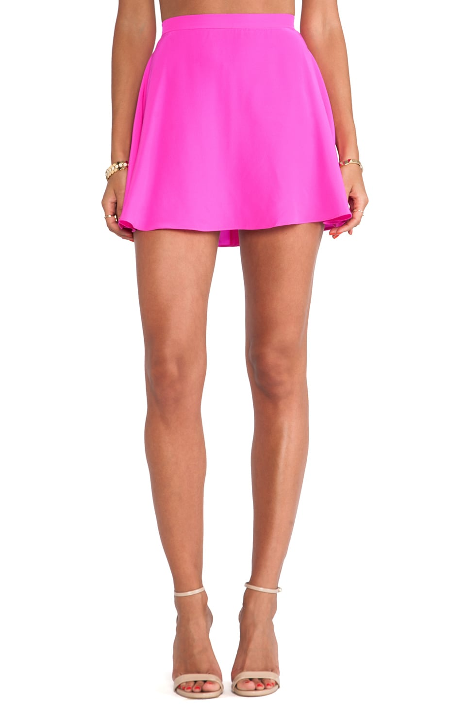 Amanda Uprichard Circle Skirt in Hot Pink