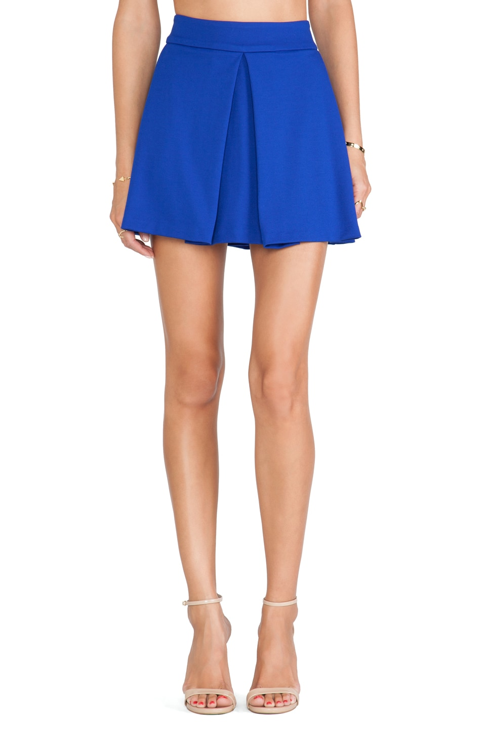 Amanda Uprichard Box Pleat Skirt in Royal