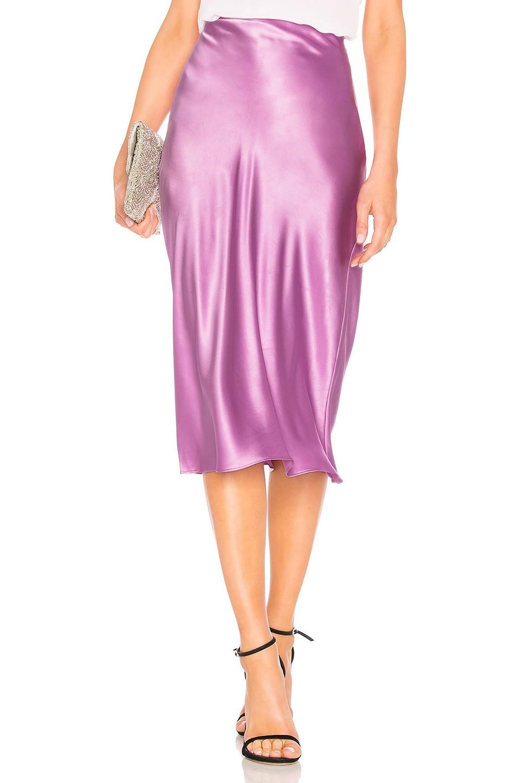 Amanda Uprichard Paulina Slip Skirt in Electric Lilac