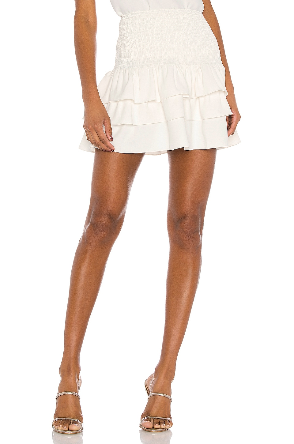 Amanda Uprichard Mariska Skirt in Ivory