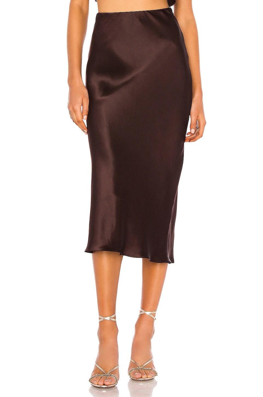 Amanda Uprichard Edie Slip Skirt in Cocoa