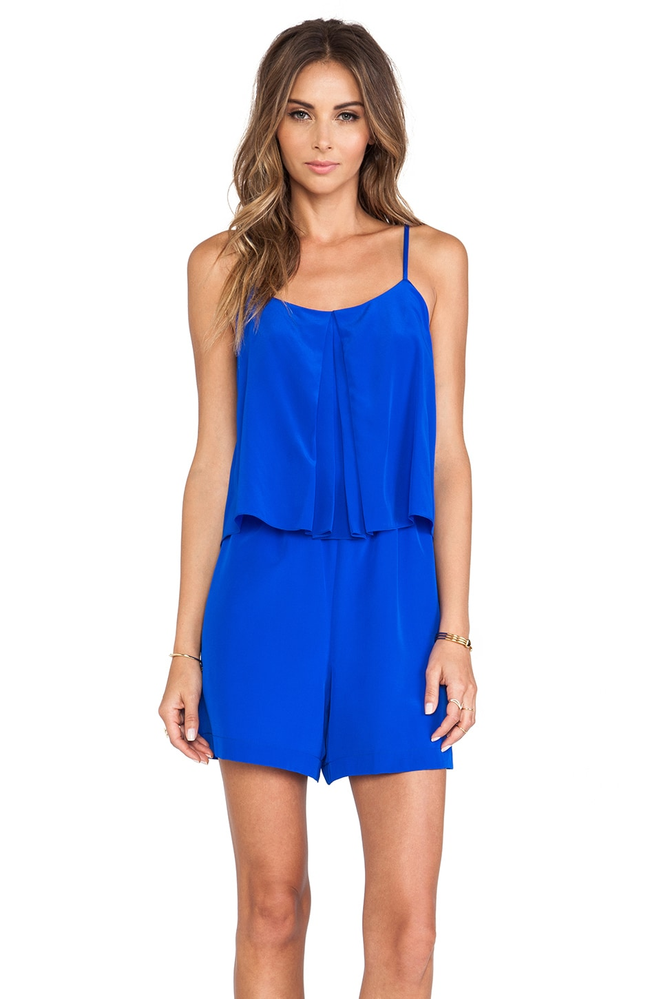 Amanda Uprichard Summer Romper in Royal