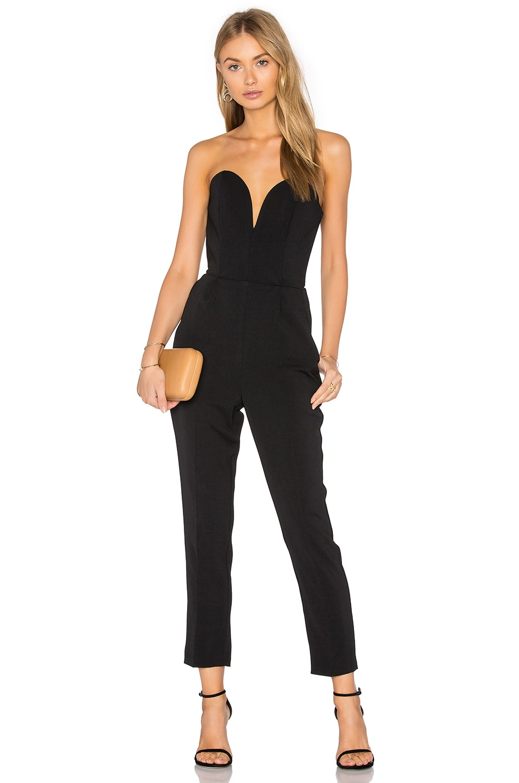Amanda Uprichard Cherri Jumpsuit in Black
