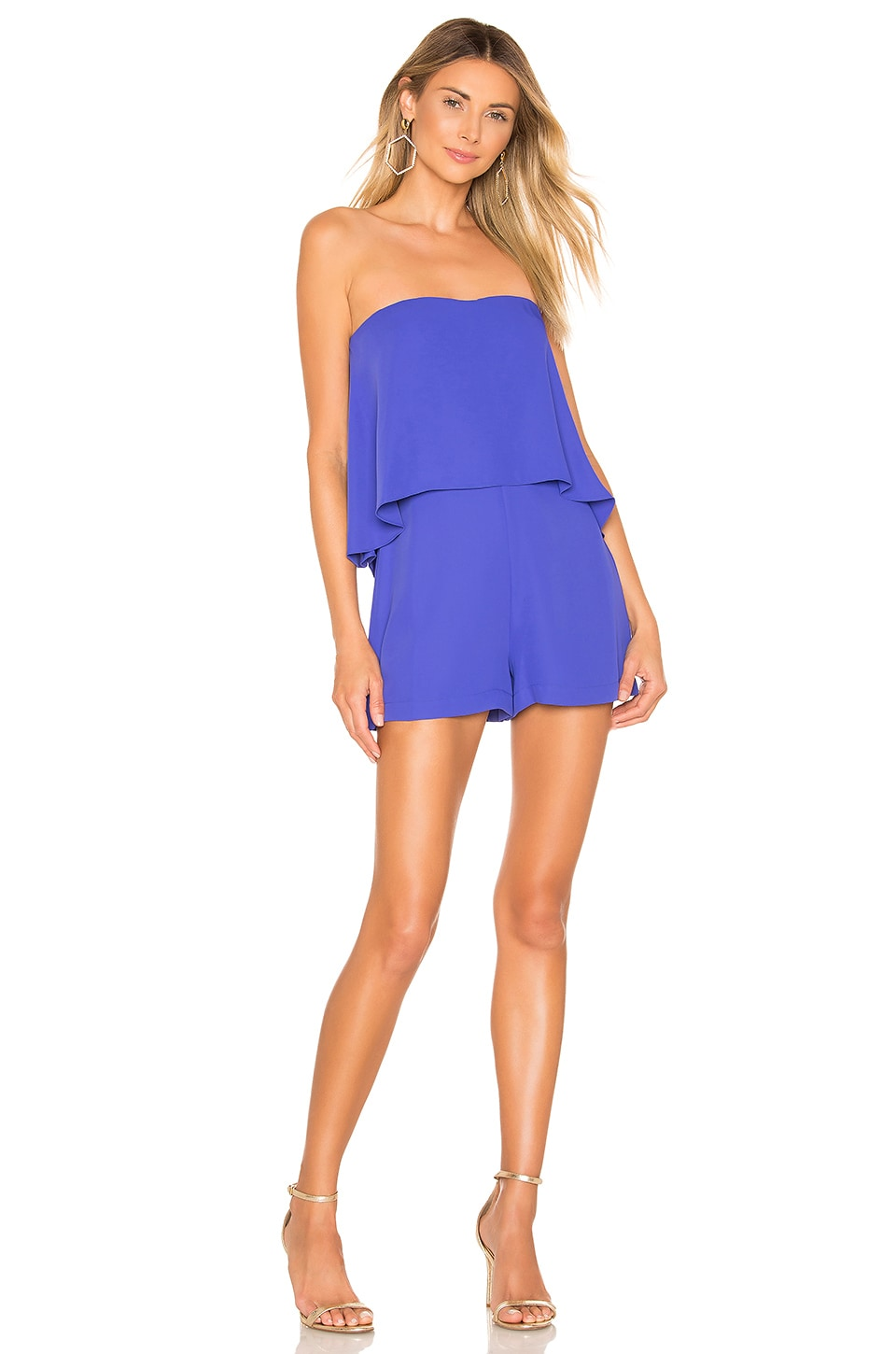 Amanda Uprichard Topanga Romper in Nu Blue