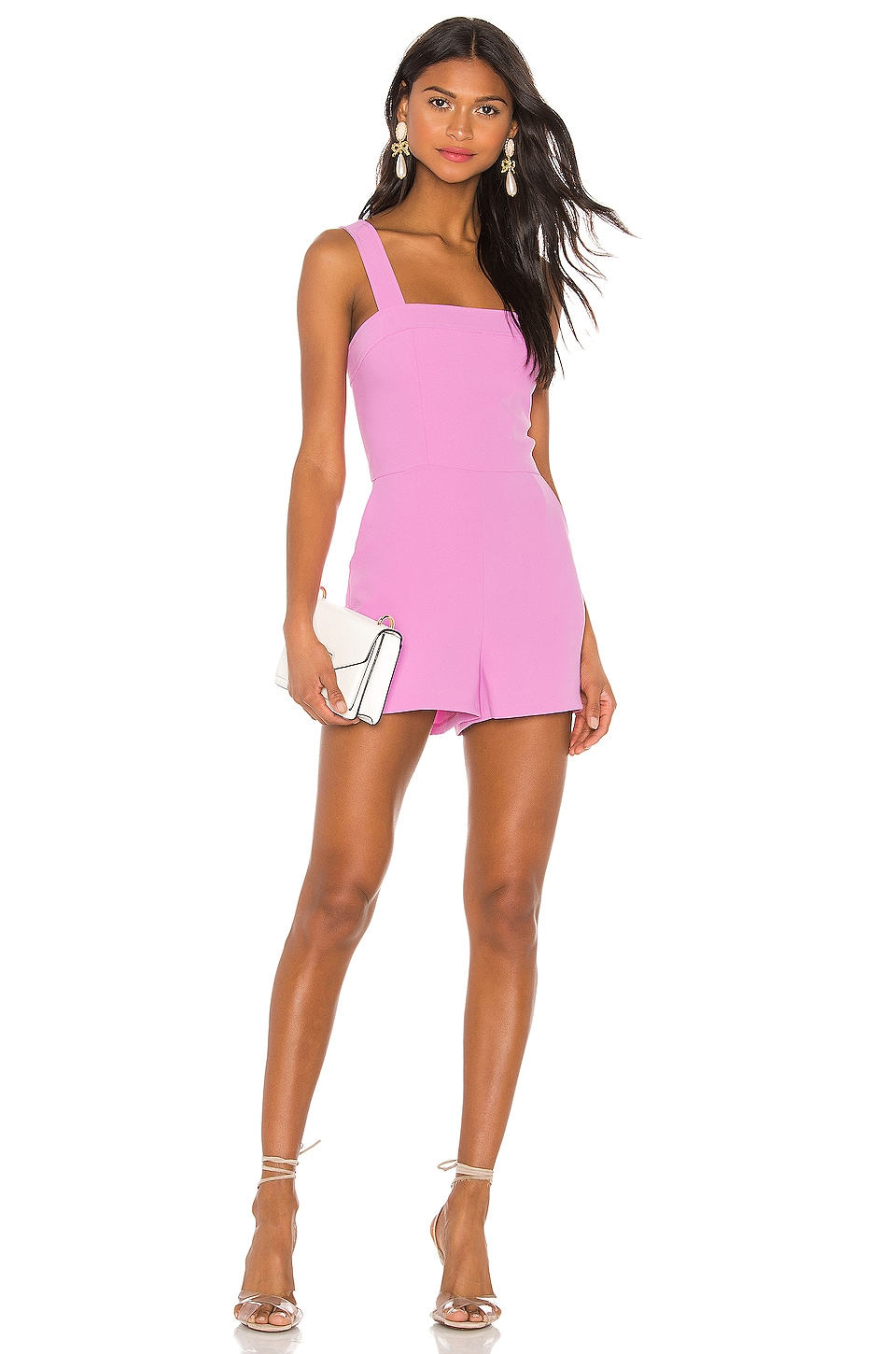 Amanda Uprichard Ace Romper in Sweet Pink