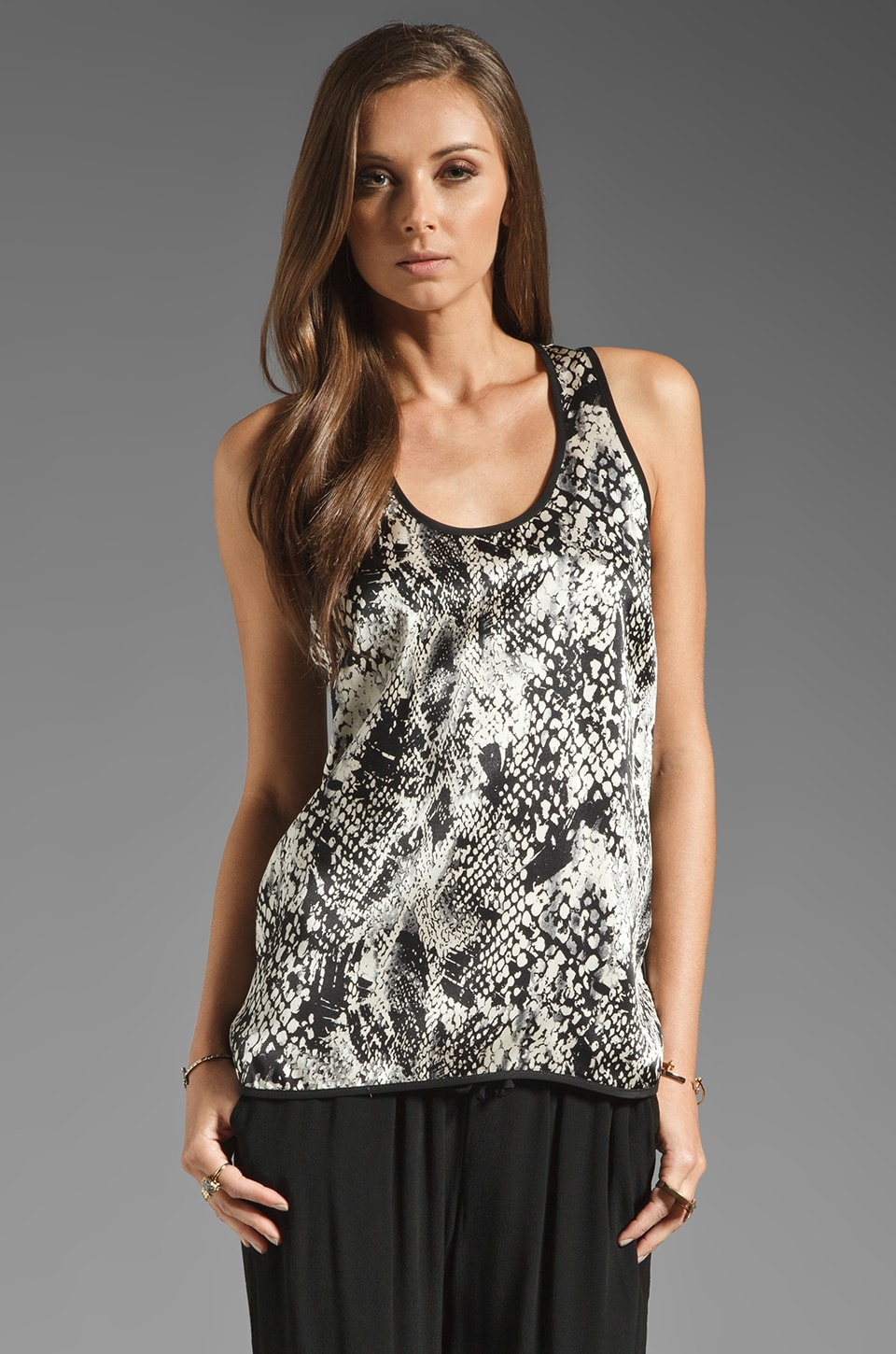 Amanda Uprichard St. Louis Tank in Snake/Black Bias