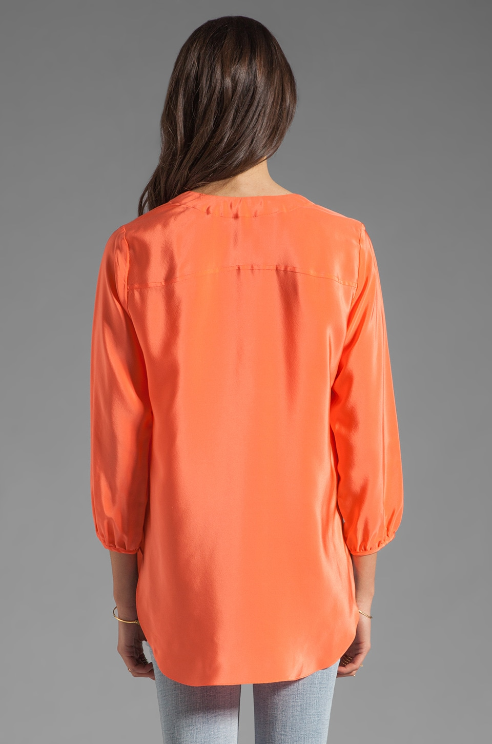 Amanda Uprichard Highliner Blouse in Coral