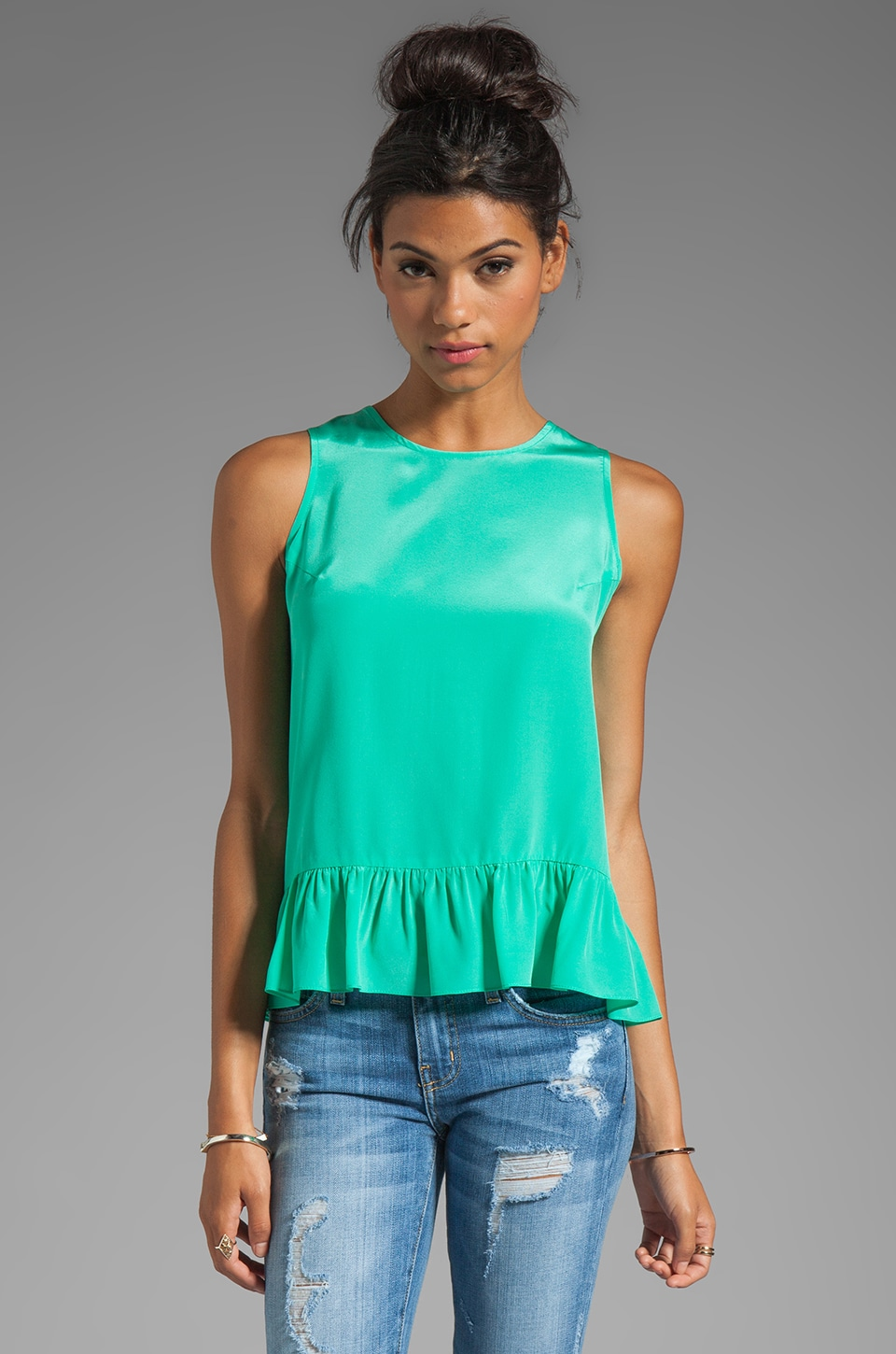 Amanda Uprichard Alyson Top in Mint