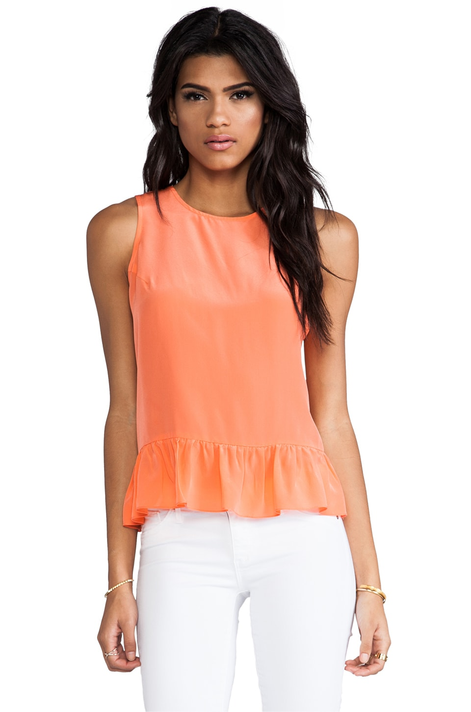 Amanda Uprichard Alyson Top in Coral