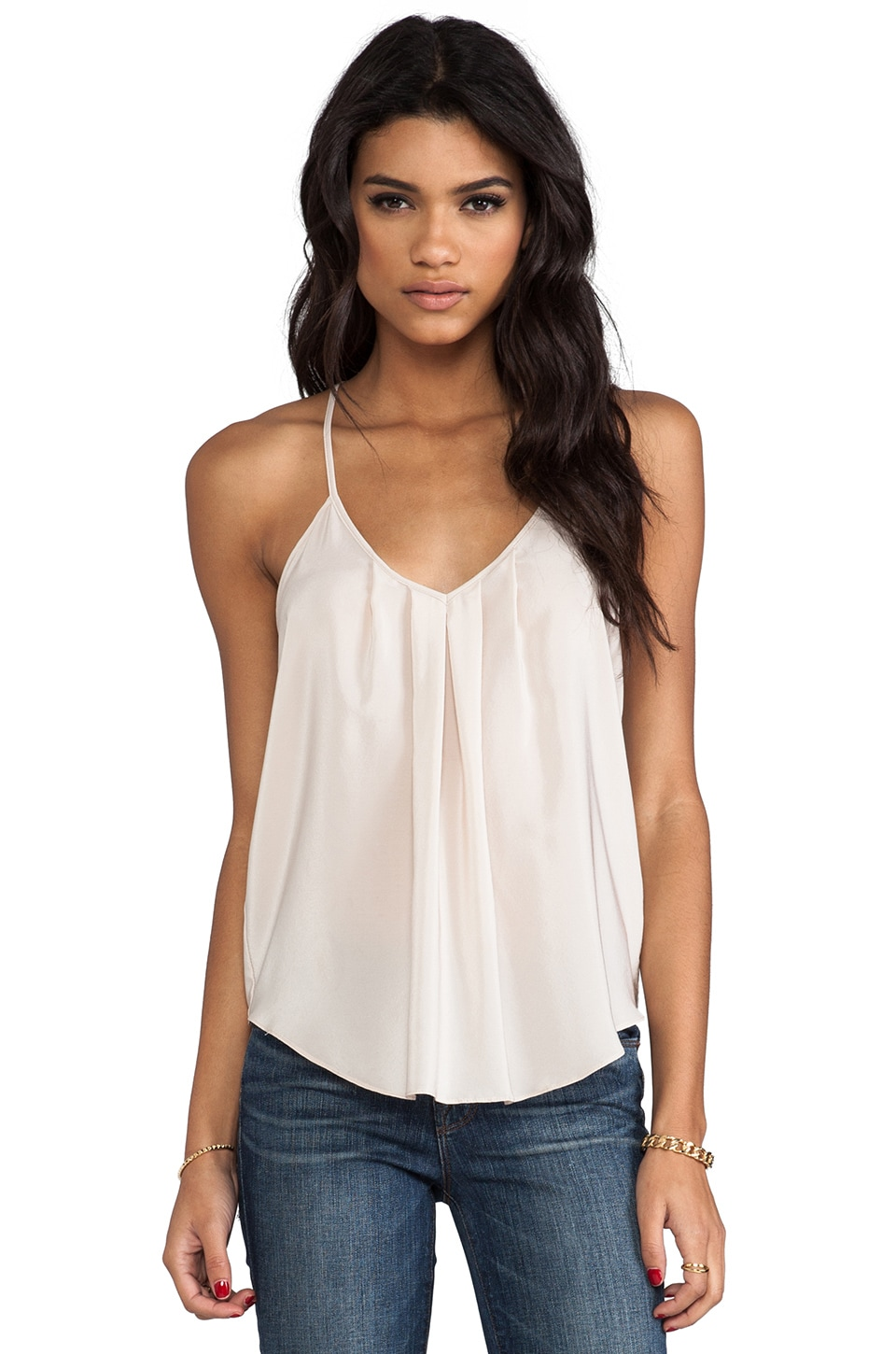 Amanda Uprichard Button Back Cami in Bone