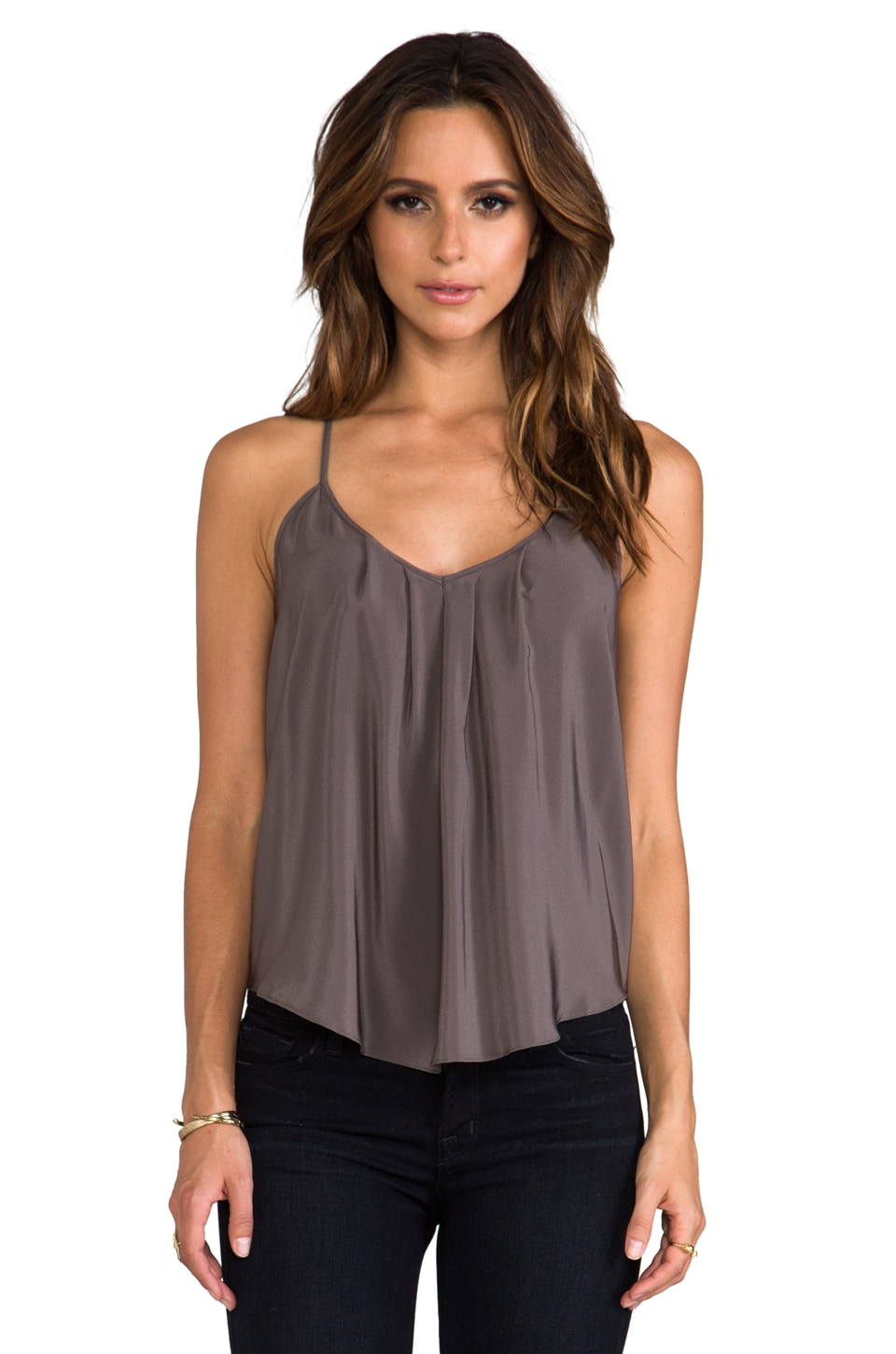 Amanda Uprichard Button Back Tank in Slate