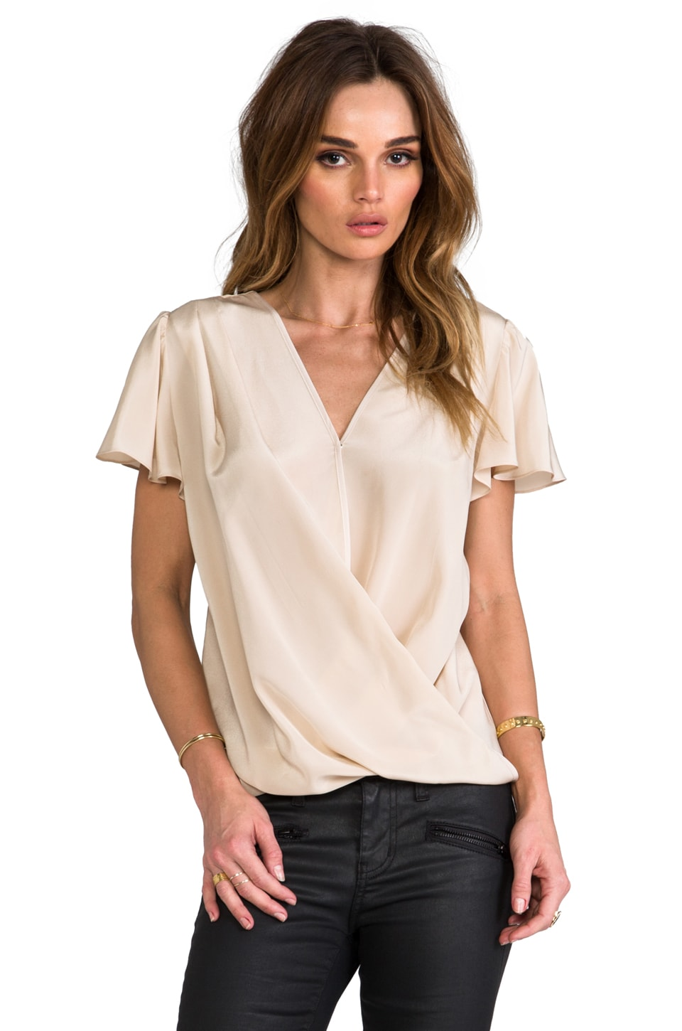 Amanda Uprichard Faye Top in Bone