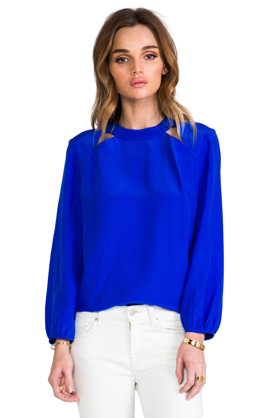 Amanda Uprichard Cut Out Top in Royal
