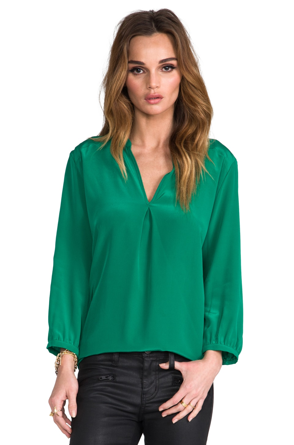 Amanda Uprichard Forever Shirt in Green
