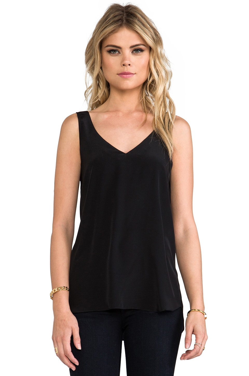 Amanda Uprichard Aidan Tight Tank in Black