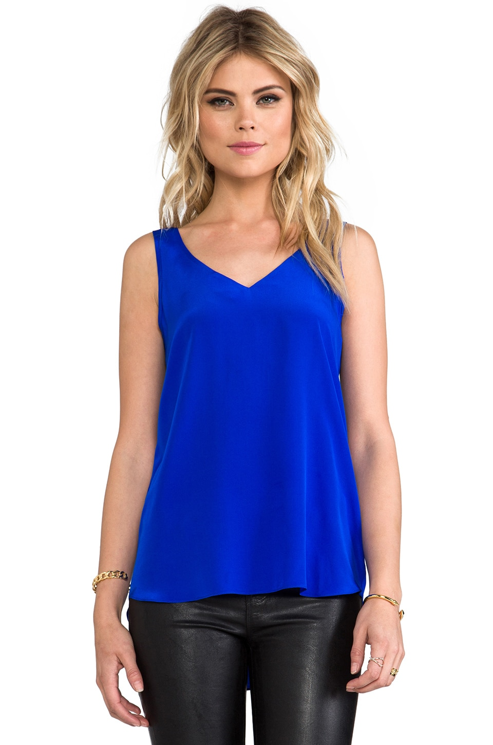 Amanda Uprichard Aidan Tight Tank in Royal
