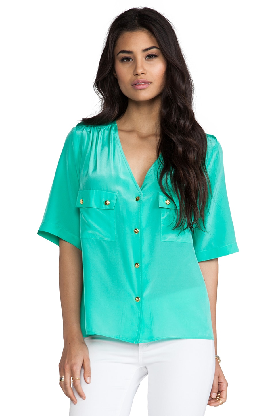 Amanda Uprichard Courtney Top in Mint