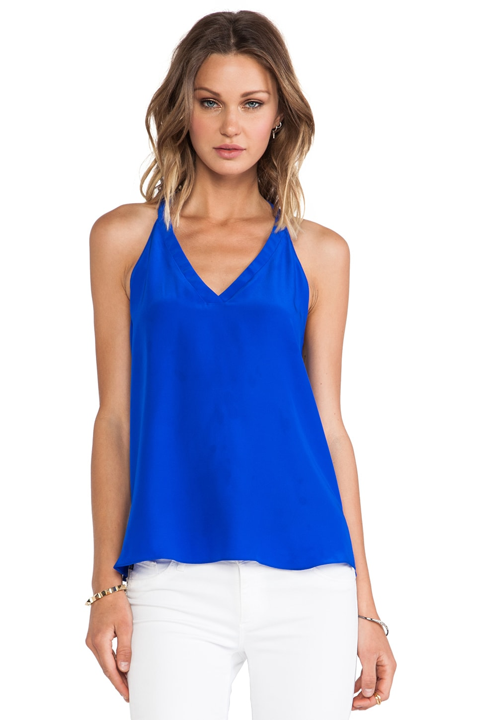 Amanda Uprichard Fairway Tank in Royal